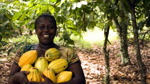 woman cocoa farmer