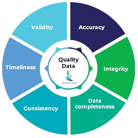 Quality data at SCOPEinsight: accuracy, integrity, data completeness, consistency, timeliness, validity