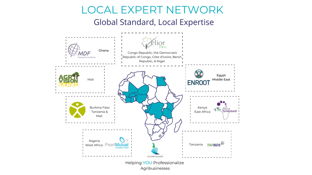 Local Expert Network: Global Standard, Local Expertise. Our Local Experts work in many countries in Africa.